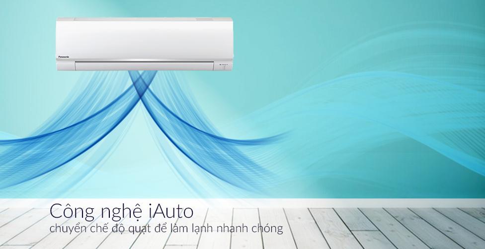 Công nghệ iAuto chuyển chế độ quạt để làm lạnh nhanh chóng