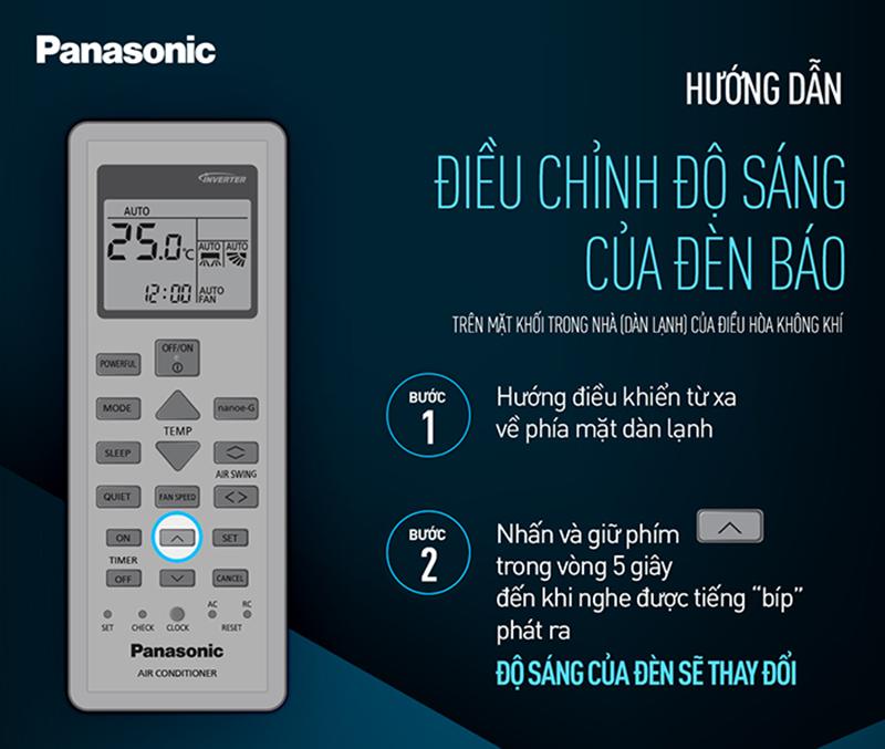Cách điều khiển điều hòa Panasonic dòng CU/CS-S Series