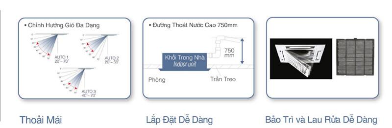 Điều hòa âm trần Panasonic 30000BTU 1 chiều inverter S-30PU2H5-8