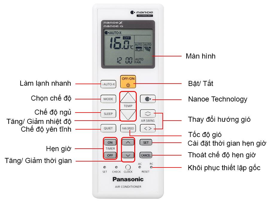 Remote Điều hòa Panasonic