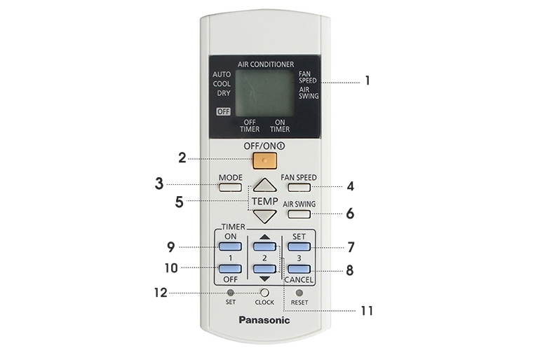 Cách bật điều hòa Panasonic 2 chiều